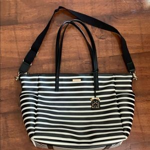 Kate Spade♠️ striped tote/diaper bag